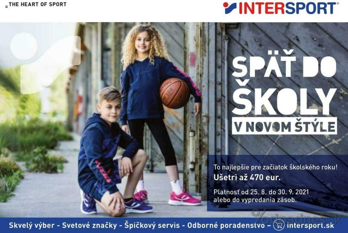 1. stránka Intersport letáku
