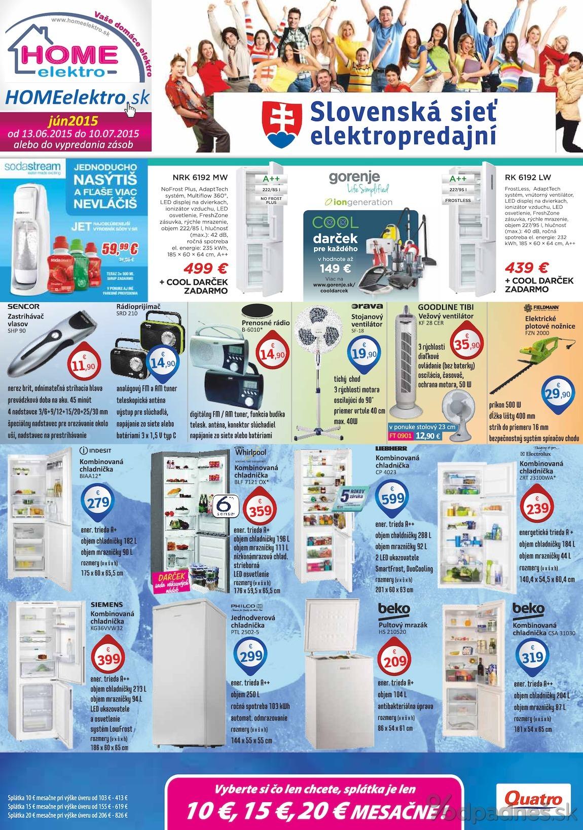 1. stránka Home Elektro letáku