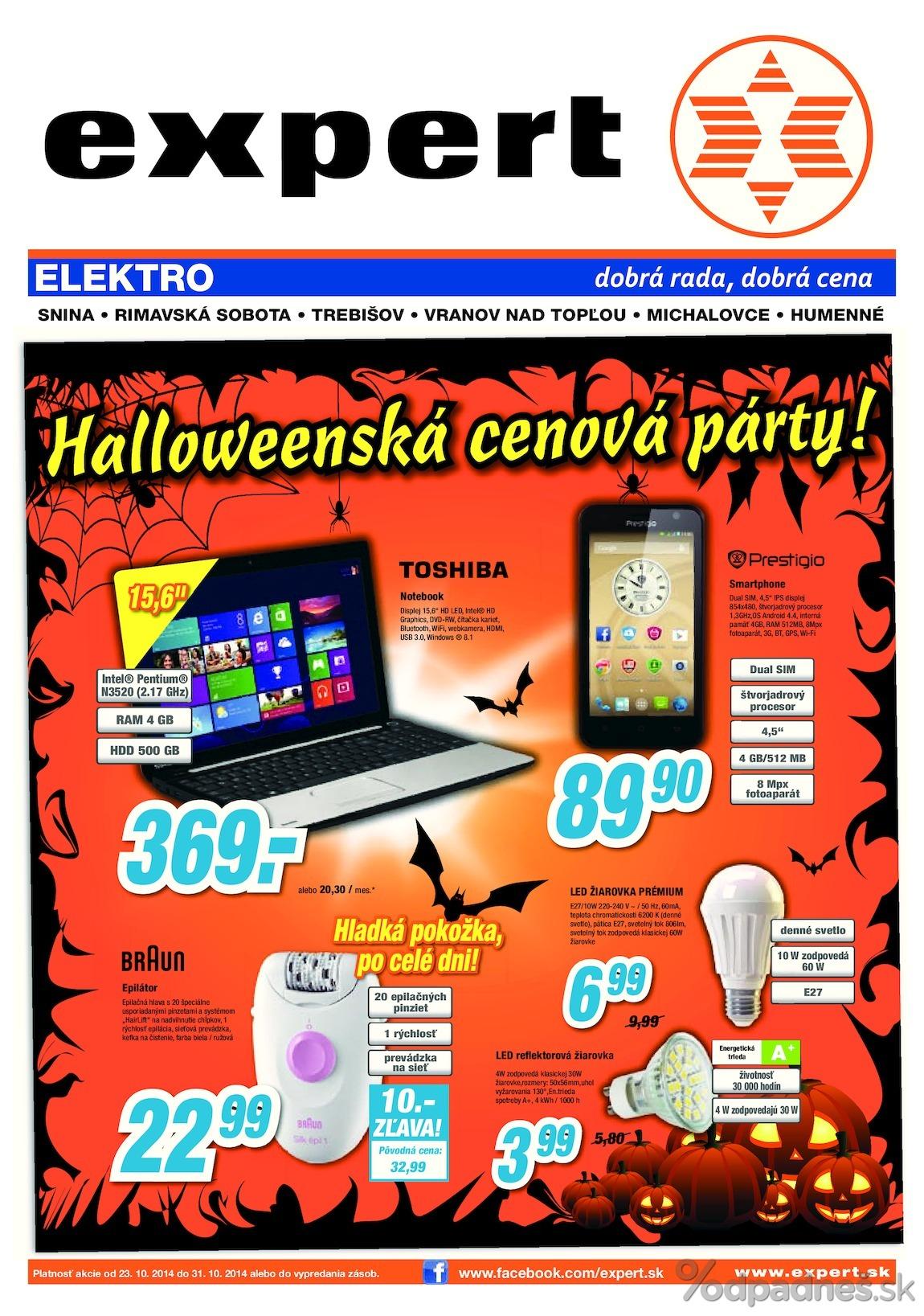 1. stránka Expert Elektro letáku