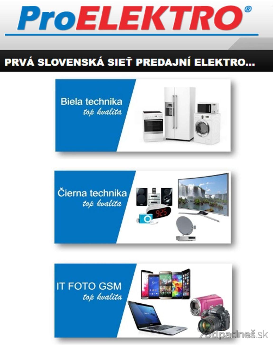 1. stránka Pro Elektro letáku