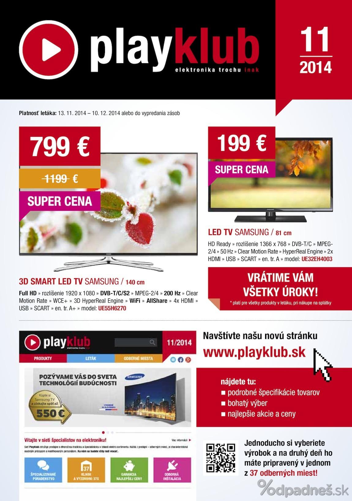 ba15fb13e Playklub leták platný do 10.12.2014 | Letákovo.sk