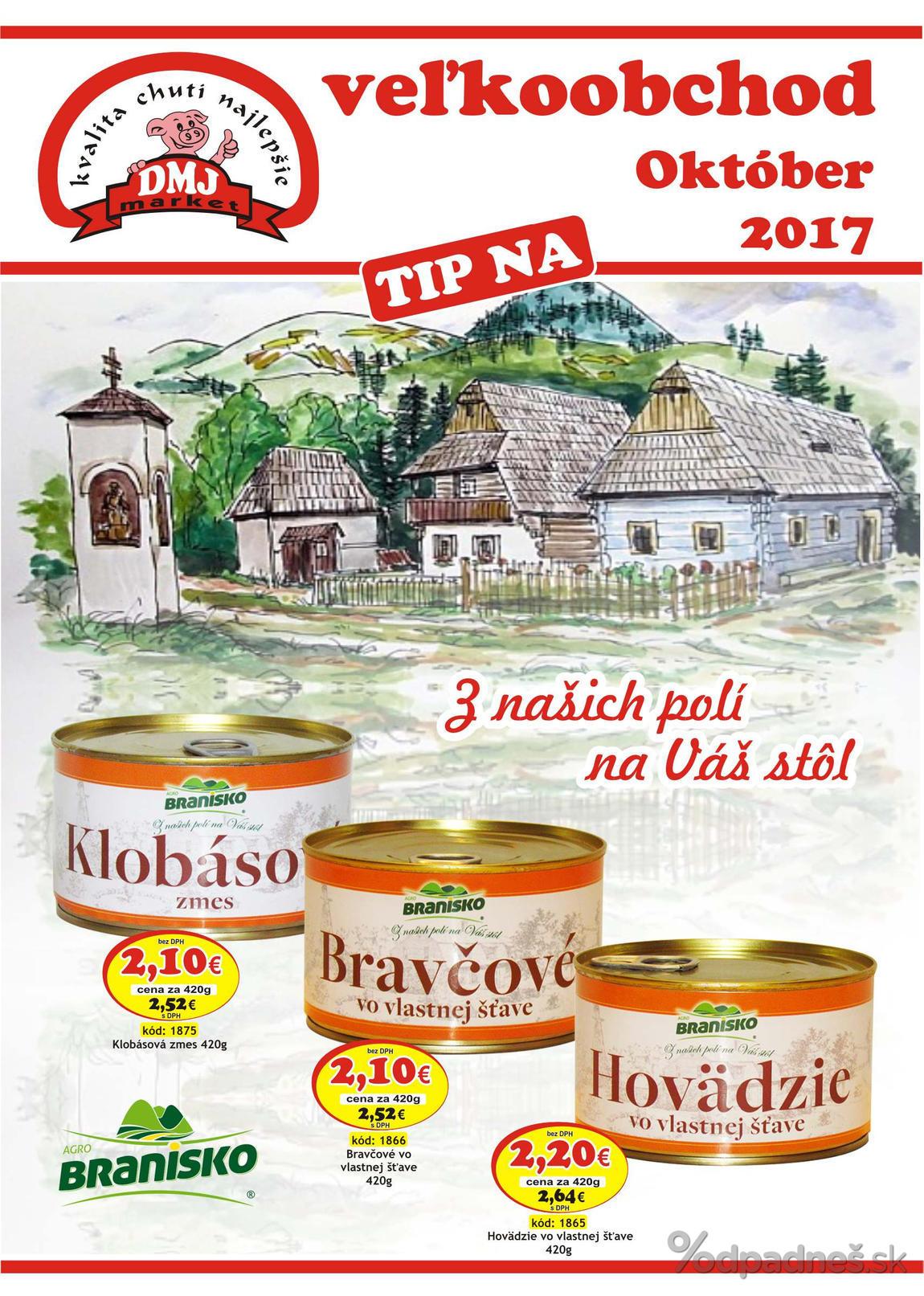 1. stránka DMJ market letáku