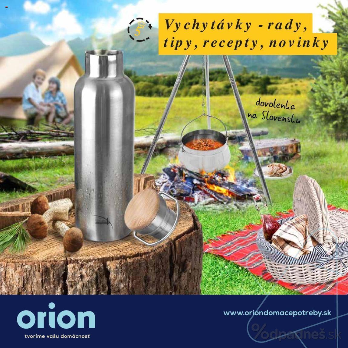 1. stránka Orion letáku